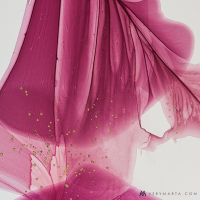 abstract art floral Marta Spendowska bloomlands original fine art It is pink, with speckles I swallowed 24x36""