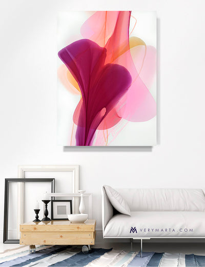 abstract art floral Marta Spendowska bloomlands original fine art Lured by this magnificence 18x24""
