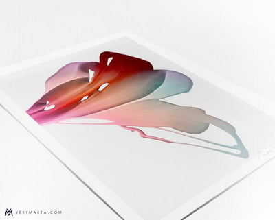 Flower Art print giclee flora botanical Marta Spendowska Verymarta Abstract Flora Art Print Bloom3