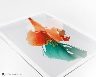 Flower Art print giclee flora botanical Marta Spendowska Verymarta Abstract Flora Art Print Bloom6