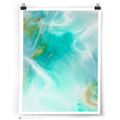 Abstract Art Print: Lagoon 1