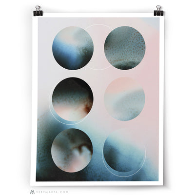 Abstract Art Print: Moon
