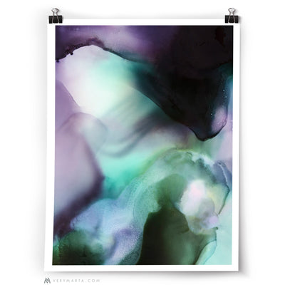 Abstract Art Print: Above The Open Fields