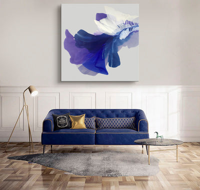 abstract art floral Marta Spendowska bloomlands original fine art Abstract Painting: Fostering violets like hugs / 50x50""