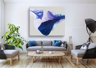 abstract art floral Marta Spendowska bloomlands original fine art Abstract like Peacock birds / 60x50""