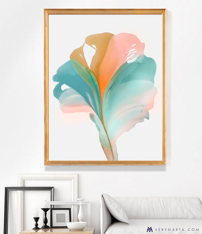 "abstract art floral Marta Spendowska bloomlands original fine art Abstract Floral Gala 36x30"" (paper)"