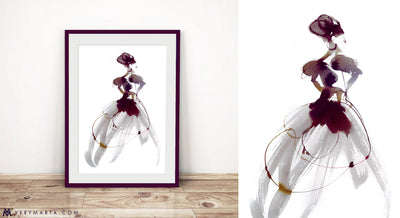 Art Print | Giclee Print | Burgundy Affairs