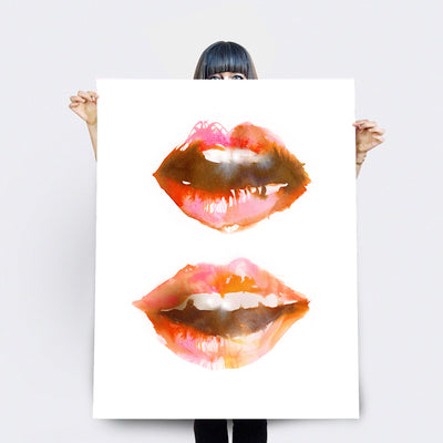 Art Print | Giclee Print | Lips Red