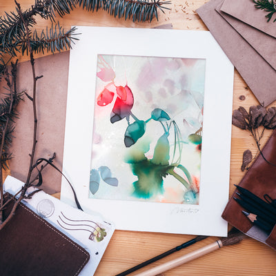 Matted Art Print : Floral 2
