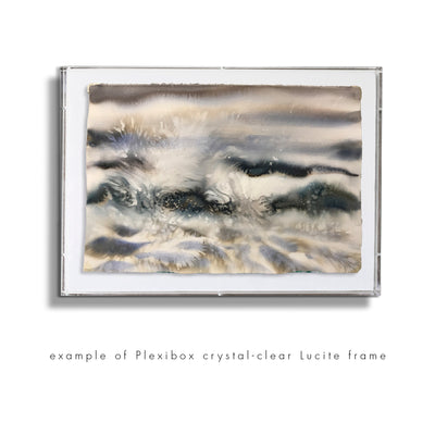 "Watercolor seascape painting Marta Spendowska New England ""Silver Moon Over Us"" 11x14""in on Paper"