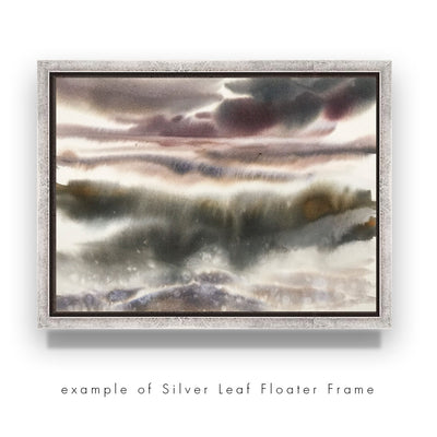 Add-On : Silver Leaf Floated Frame for 6x8in Art
