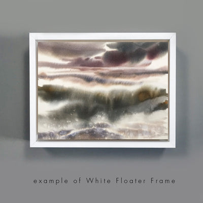 Add-On : White Floated Frame for 5x7in Art