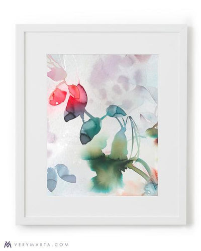 Botanical Art Print giclee watercolor flora Marta Spendowska Verymarta Botanical Art Print: Flora 3