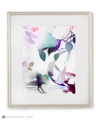 Botanical Art Print giclee watercolor flora Marta Spendowska Verymarta Botanical Art Print: Flora 4