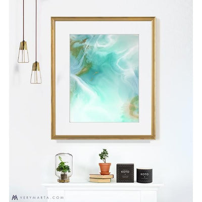 Abstract Art Prints giclee watercolor Marta Spendowska verymarta Abstract Art Print: Lagoon 1