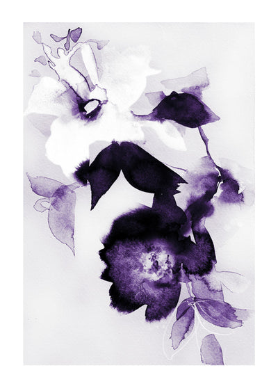 Abstract Flora : Violet Afternight