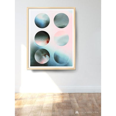Abstract Art Prints giclee watercolor Marta Spendowska verymarta Abstract Art Print: Moon