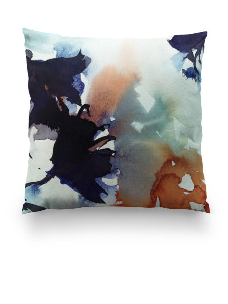 Throw pillow watercolor Abstract Floral Botanical Marta Spendowska Verymarta Throw Pillow Botanical 4