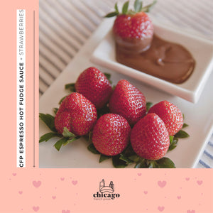 CFP Espress Hot Fudge Sauce + Strawberries