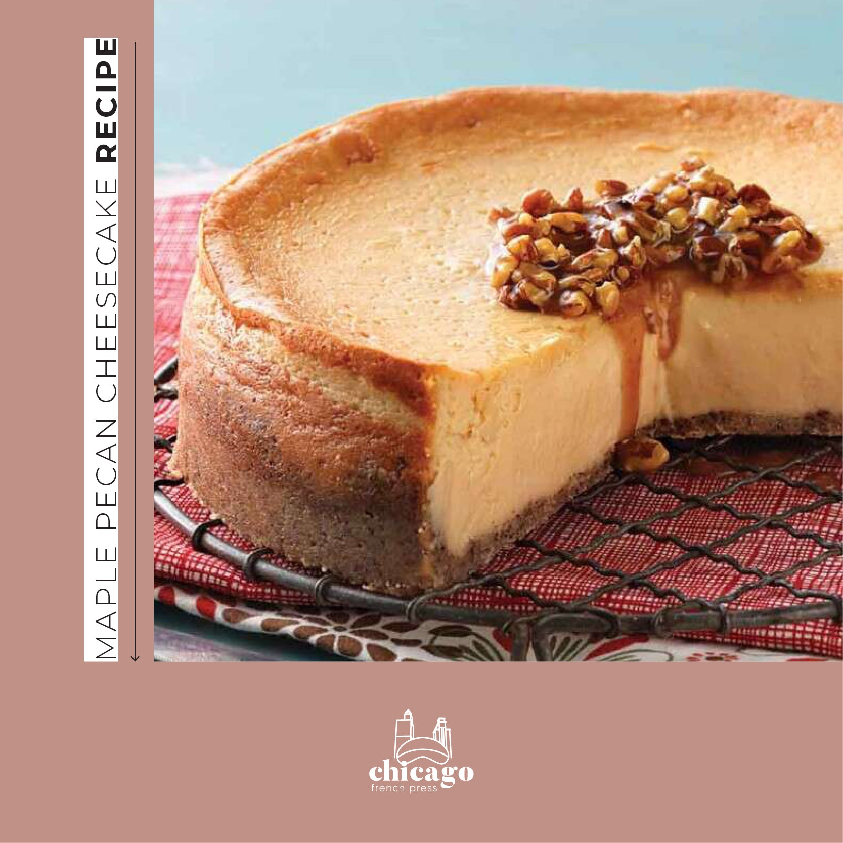 How to make Maple Pecan Cheesecake using CFP's Maple Pecan Coffee
