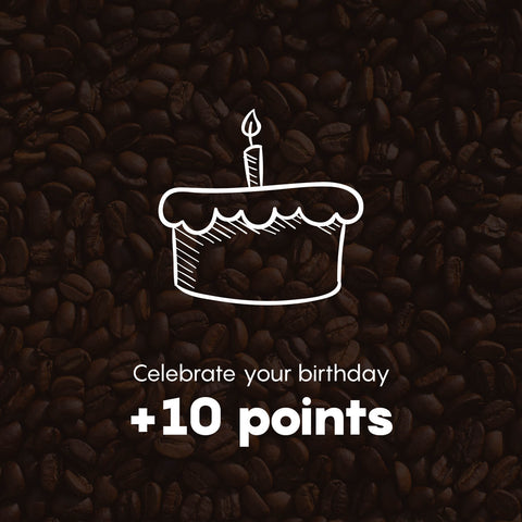Celebrate your birthday +10 Points