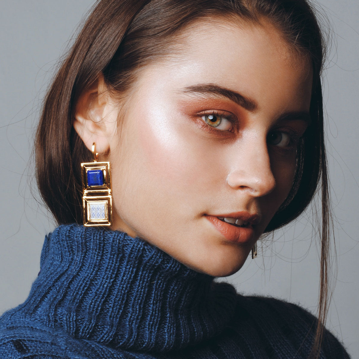 District Gold Earrings