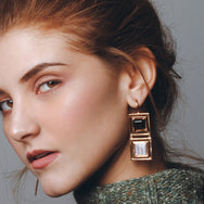 District Rose Gold Earrings