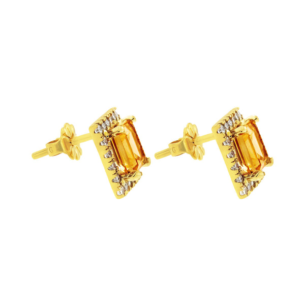 Downtown Gold Studs