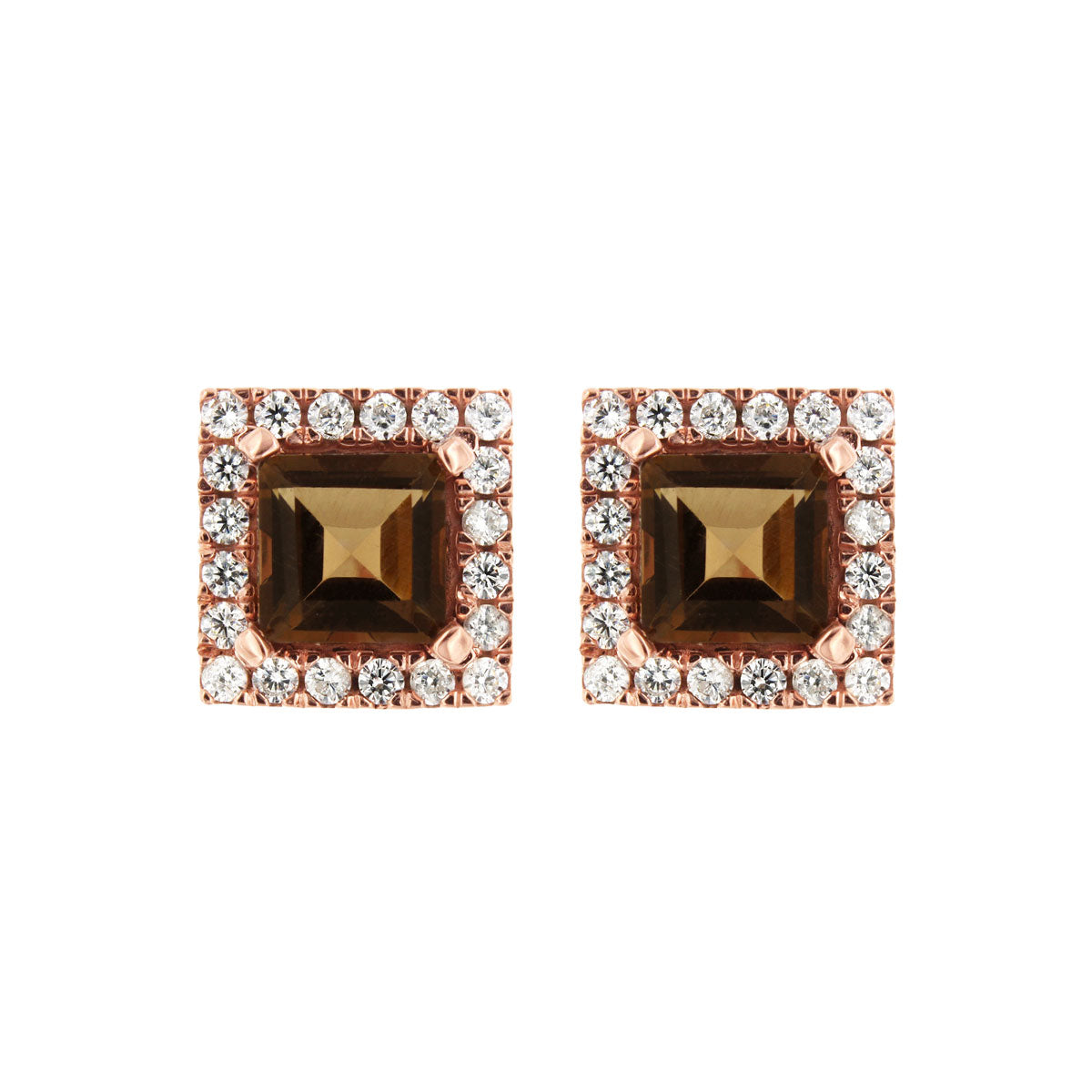 Downtown Rose Gold Studs