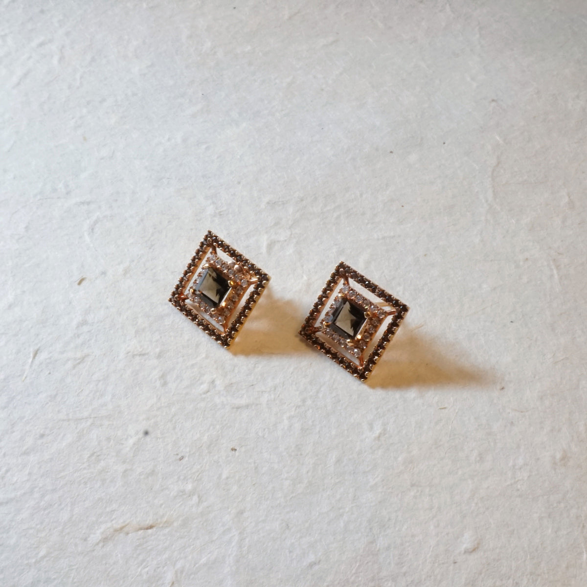 Broadway Rose Gold Studs