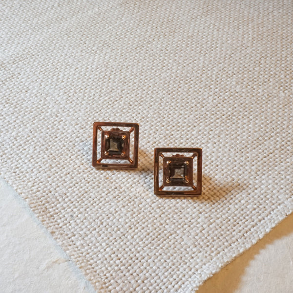 Collins Rose Gold Studs