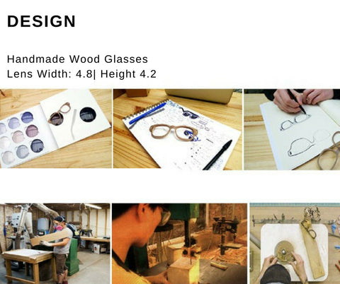 wood glasses design