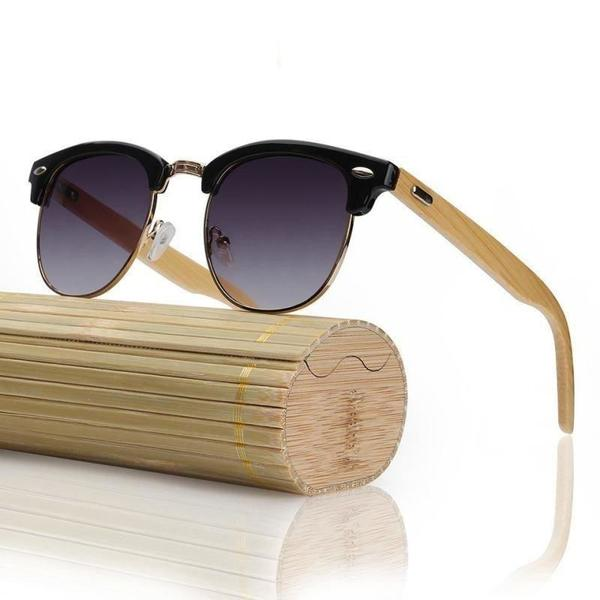 Bamboo Wood Sunglasses Black