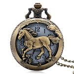 Bronze Horse Quartz Pocket Watch