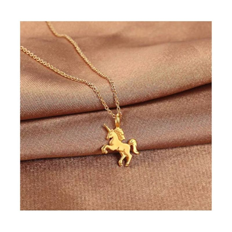 Classic Unicorn Horse Chain Pendant Necklace