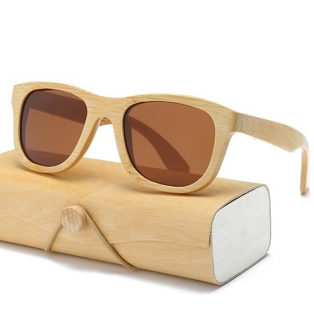Handmade Wood Mirror Sunglasses Tea Glasses
