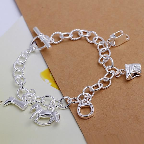 Silver Plated Horse Bracelet