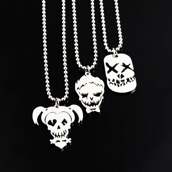 [50% Off Deal] Cute His & Her Suicide Squad (Harley Quinn & Joker) Necklaces