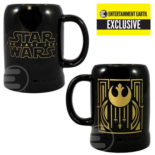 Star Wars The Last Jedi Rebel Symbol 20 oz. Ceramic Stein - Entertainment Earth Exclusive