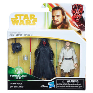 Star Wars Force Link 2.0 Darth Maul & Qui-Gon Jinn 2-Pack