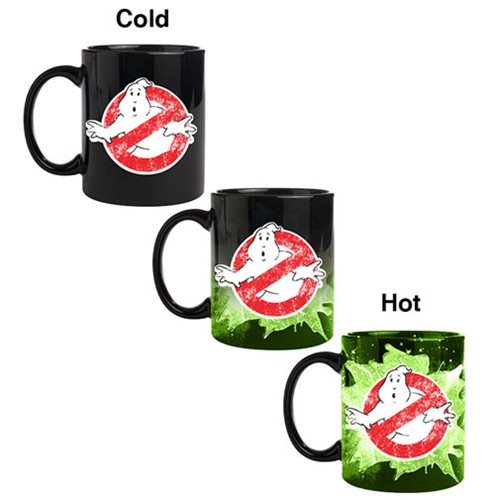 Ghostbusters Logo Heat Changing Coffee Mug