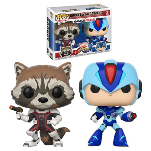 Marvel Vs Capcom Rocket Vs Mega Man Pop! Vinyl 2-Pack
