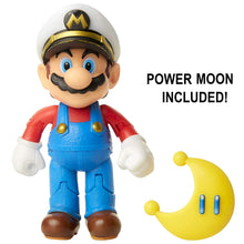 "Nintendo Super Mario Captain Mario 4"" Articulated Figure with Power Moon"