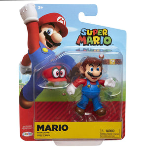 "Nintendo Super Mario Odyssey Mario 4"" Articulated Figure with Cappy"