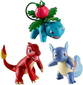 Pokemon Action Pose 3 Pack,  CHARMELEON, WARTORTLE AND IVYSAUR