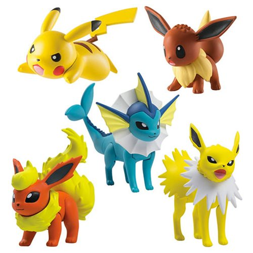 Pokemon Multipack, Pikachu, Eevee, Vaporeon, Jolteon and Flareon