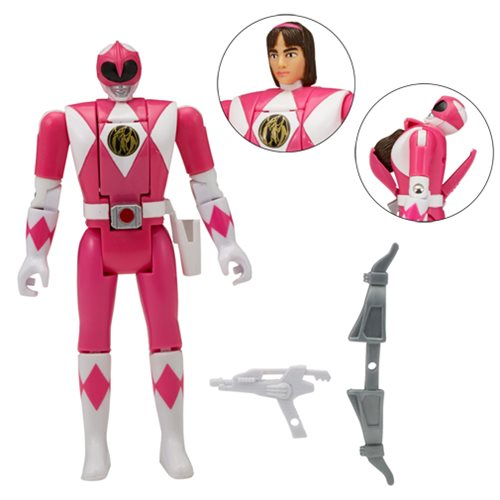 Power Rangers Legacy Pink Ranger Head Morph Action Figure