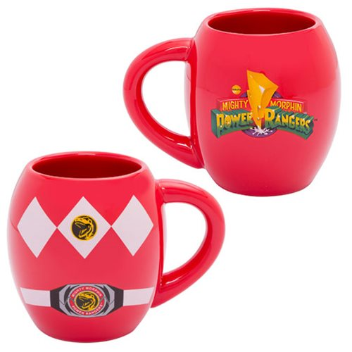 Power Rangers Red Costume 18 oz. Ceramic Mug