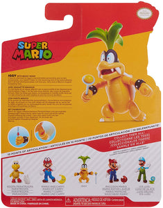 "SUPER MARIO Collectible Iggy Koopa 4"" Poseable Articulated Action Figure"