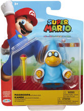 "SUPER MARIO Nintendo Collectible Magikoopa 4"" Poseable Articulated Action Figure with Wand Accessory"